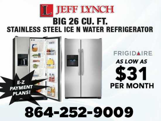 E-Z Payment Plans!--NEW 26 cu ft Stainless Steel