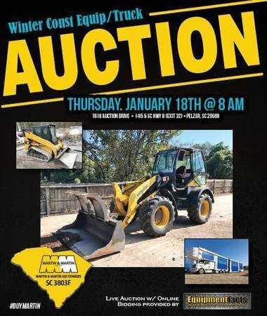 Const Equip/Truck Auction -VISIT WEBSITE FOR INFO