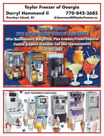 Taylor Ice Cream and Slush Machines.(New and Used)