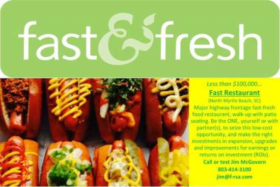 Less than $100,000 - Fast, Fresh Food Restaurant -