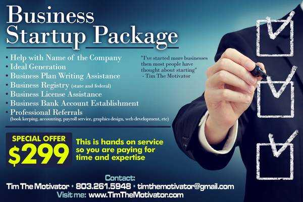 South Carolina  Stopstart Your Business Today   Greenville  Business Startup Package Jpg