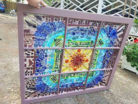 ROYGBIV stain glass window - $1300 (Easley,SC)