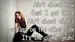 Miley Cyrus The Climb Lyrics HD