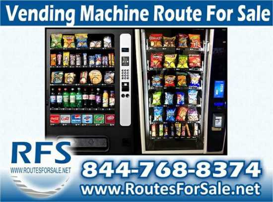 Soda and Snack Bulk Vending Machine Route For Sale